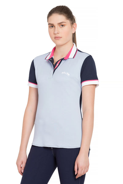 Equine Couture Ladies Pearl Short Sleeve Polo Sport Shirt_4263