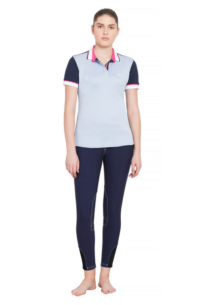 Equine Couture Ladies Pearl Short Sleeve Polo Sport Shirt_4266