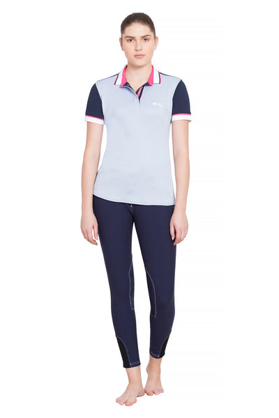 Equine Couture Ladies Pearl Short Sleeve Polo Sport Shirt_4267