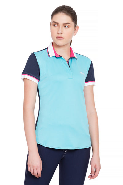 Equine Couture Ladies Pearl Short Sleeve Polo Sport Shirt_4273