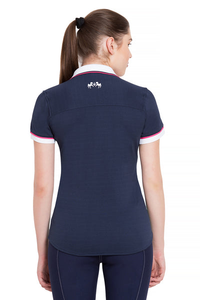 Equine Couture Ladies Pearl Short Sleeve Polo Sport Shirt_4274