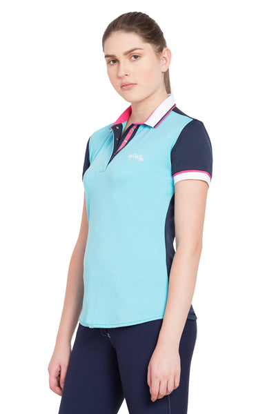 Equine Couture Ladies Pearl Short Sleeve Polo Sport Shirt_4272