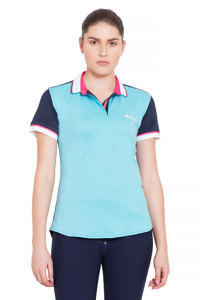 Equine Couture Ladies Pearl Short Sleeve Polo Sport Shirt_4271