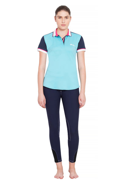 Equine Couture Ladies Pearl Short Sleeve Polo Sport Shirt_4276