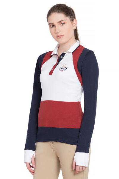 Equine Couture Ladies Calla Long Sleeve Sport Shirt_4570