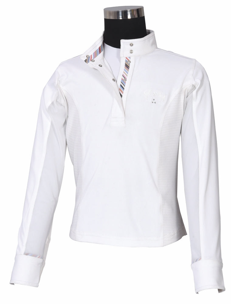 Equine Couture Children's Cara Long Sleeve Show Shirt_4307