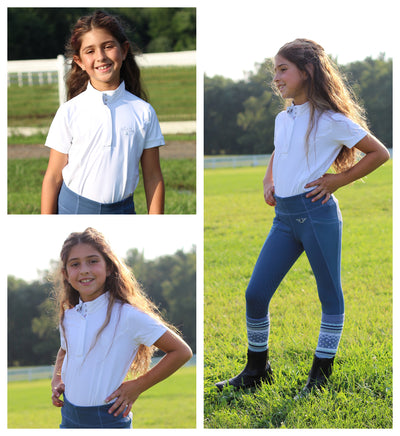 Equine Couture Children's Cara Short Sleeve Show Shirt_4330