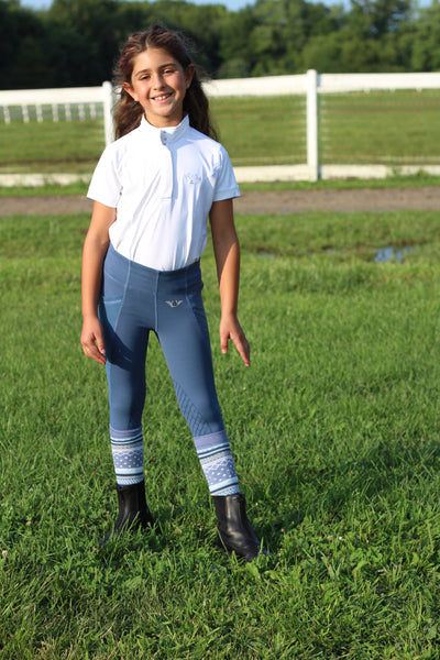 Equine Couture Children's Cara Short Sleeve Show Shirt_4329