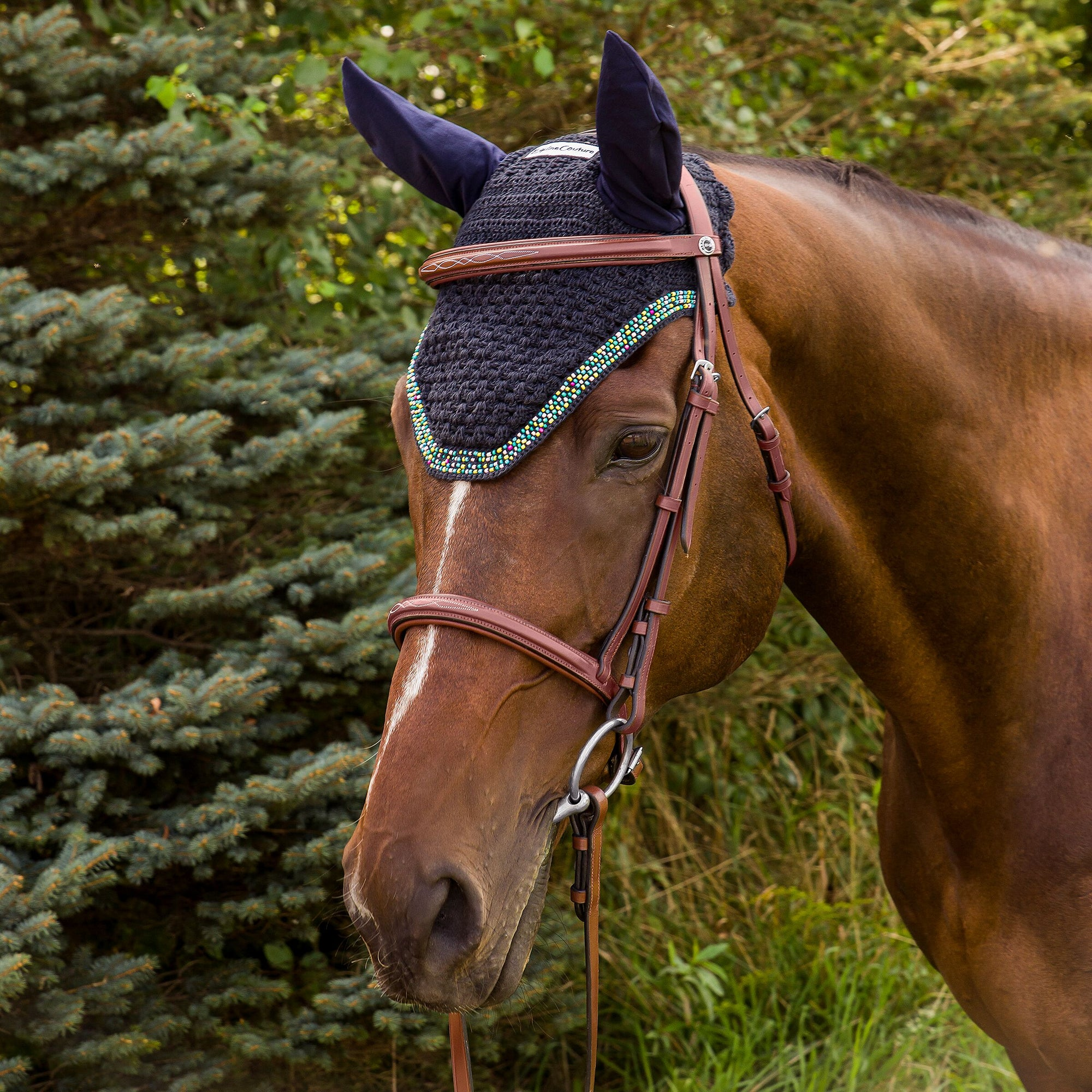 Equine Couture Beaded Fly Bonnet_5336