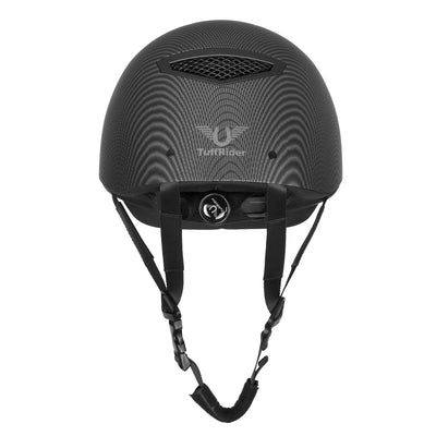 TuffRider Carbon Fiber Shell Helmet| Schooling Protective Head Gear for Equestrian Riders - SEI Certified, Tough and Durable - Black | Size - Large_3469