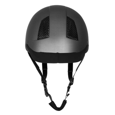 TuffRider Carbon Fiber Shell Helmet| Schooling Protective Head Gear for Equestrian Riders - SEI Certified, Tough and Durable - Black | Size - Large_3467