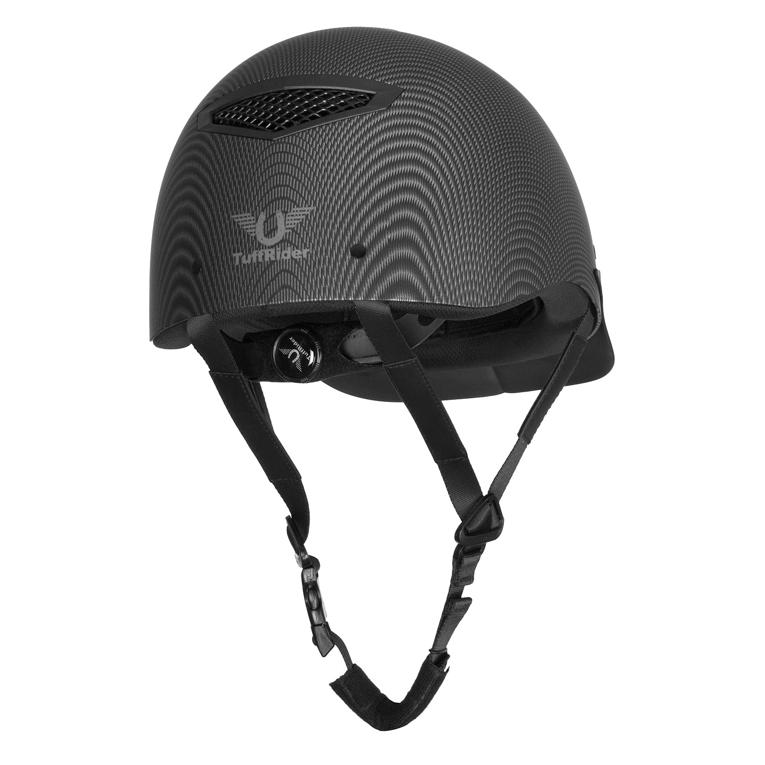 TuffRider Carbon Fiber Shell Helmet| Schooling Protective Head Gear for Equestrian Riders - SEI Certified, Tough and Durable - Black | Size - Large_1