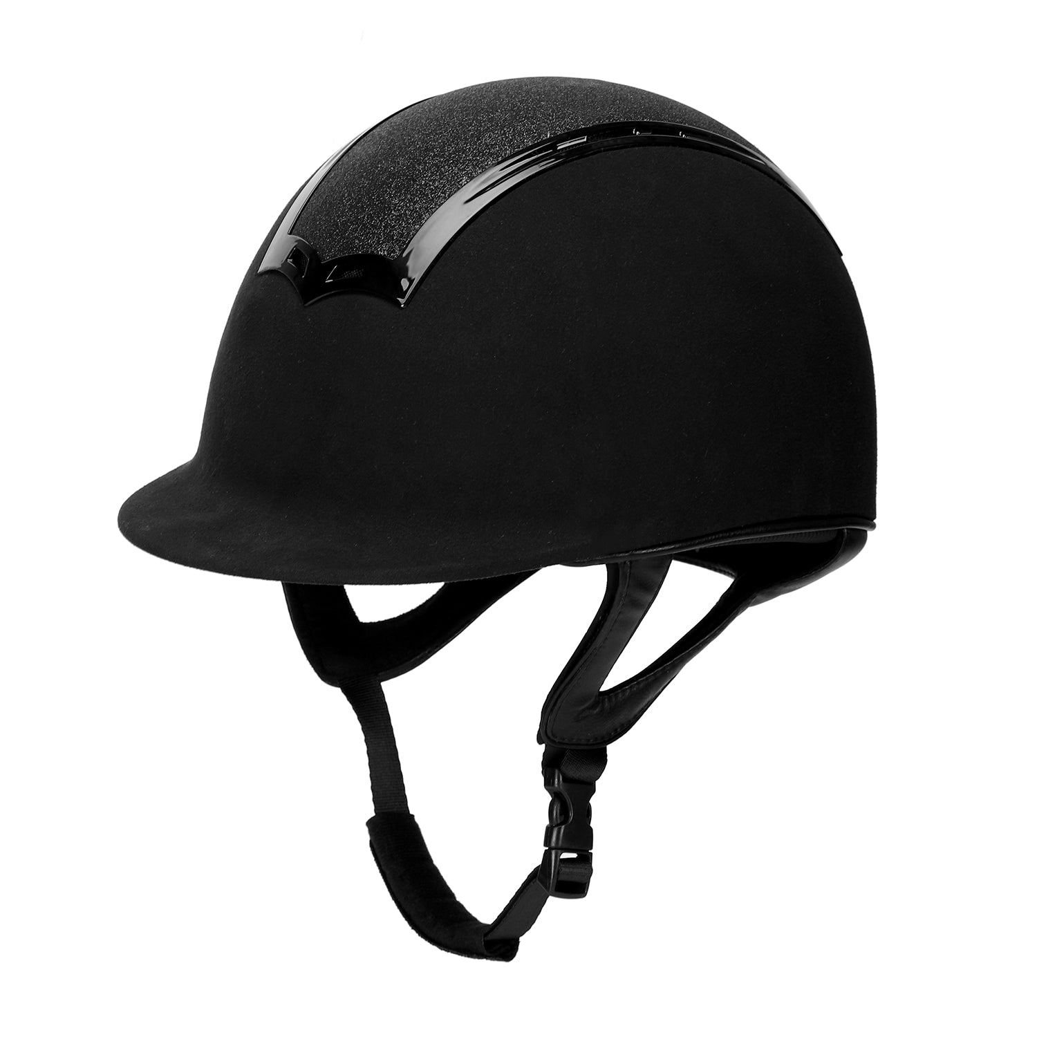TuffRider Show Time Plus Helmet |Protective Head Gear for Equestrian Riders - SEI Certified, Tough and Durable - Black_3489