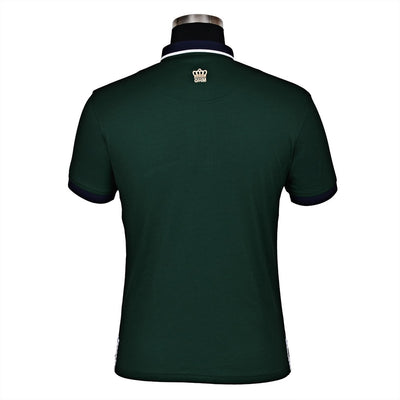 George H Morris Men's Hunter Short Sleeve Polo Sport Shirt_4577