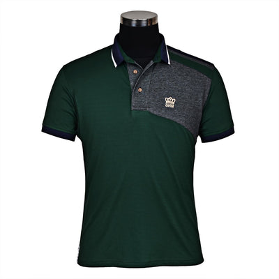 George H Morris Men's Hunter Short Sleeve Polo Sport Shirt_4576