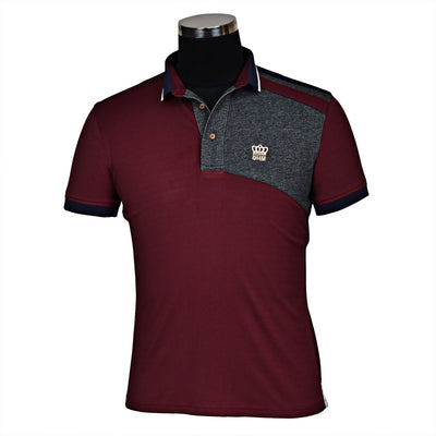 George H Morris Men's Hunter Short Sleeve Polo Sport Shirt_4578