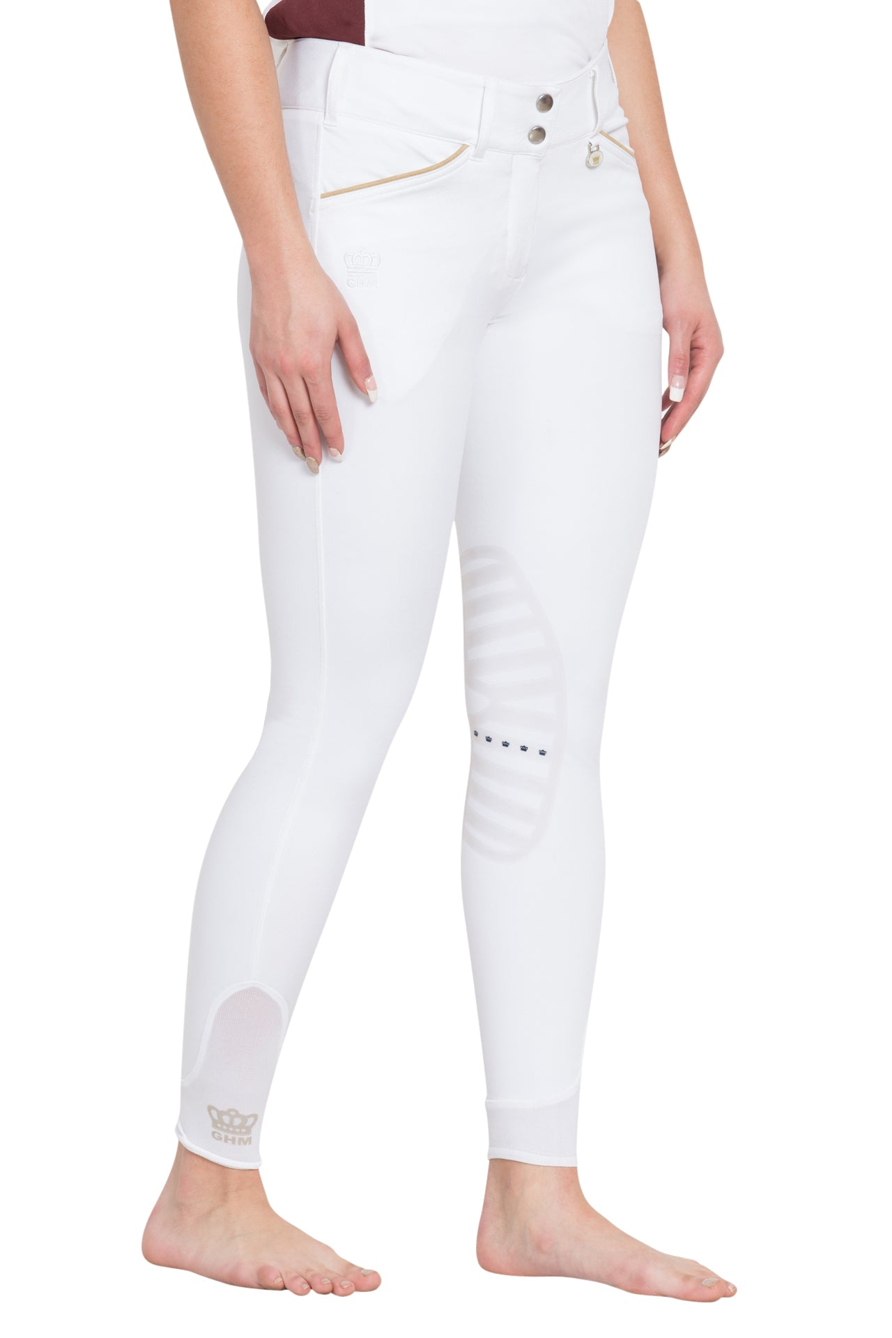 George H Morris Ladies Add Back Silicone Knee Patch Breeches_679