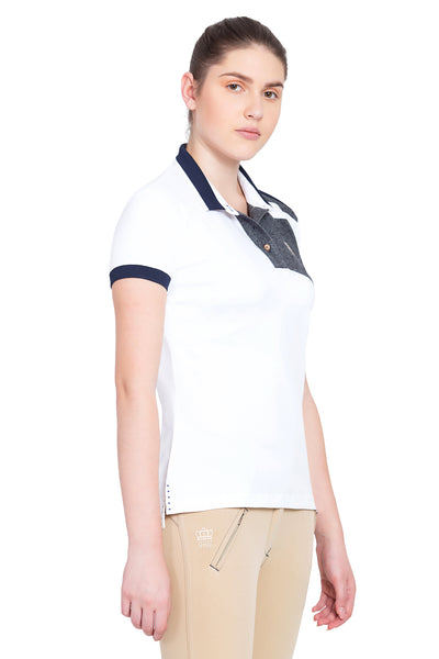 George H Morris Ladies Hunter Short Sleeve Polo Sport Shirt_4586