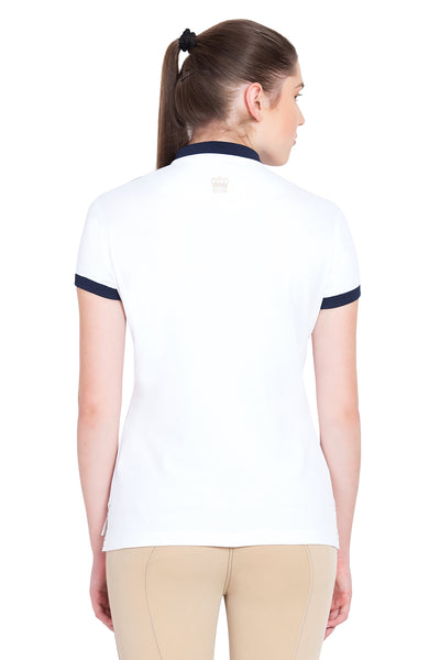 George H Morris Ladies Hunter Short Sleeve Polo Sport Shirt_4587