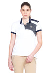 George H Morris Ladies Hunter Short Sleeve Polo Sport Shirt_4585