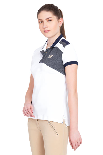 George H Morris Ladies Hunter Short Sleeve Polo Sport Shirt_4584