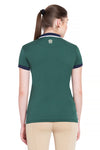 George H Morris Ladies Hunter Short Sleeve Polo Sport Shirt_4593