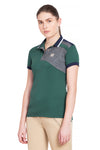 George H Morris Ladies Hunter Short Sleeve Polo Sport Shirt_4592