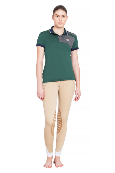 George H Morris Ladies Hunter Short Sleeve Polo Sport Shirt_4595