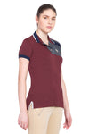 George H Morris Ladies Hunter Short Sleeve Polo Sport Shirt_4599