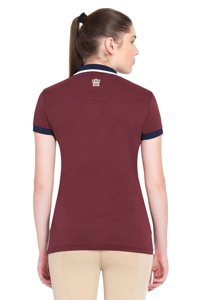 George H Morris Ladies Hunter Short Sleeve Polo Sport Shirt_4600