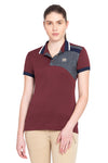 George H Morris Ladies Hunter Short Sleeve Polo Sport Shirt_4598