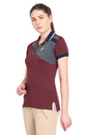 George H Morris Ladies Hunter Short Sleeve Polo Sport Shirt_4597