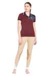 George H Morris Ladies Hunter Short Sleeve Polo Sport Shirt_4602