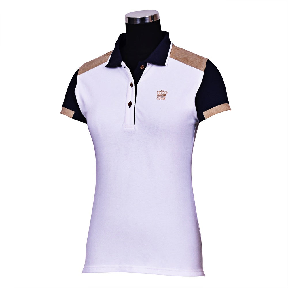 George H Morris Ladies Reserve Short Sleeve Polo Sport Shirt_1663