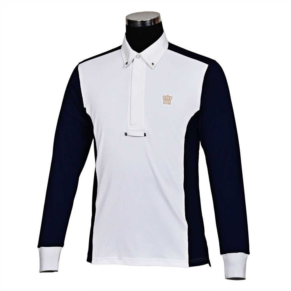 George H Morris Men's Champion Long Sleeve Show Shirt_1