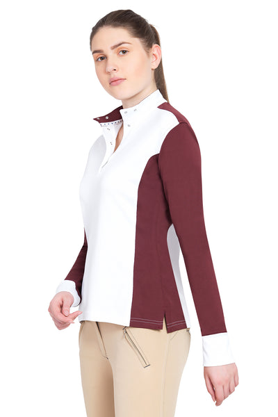 George H Morris Ladies Champion Long Sleeve Show Shirt_4468
