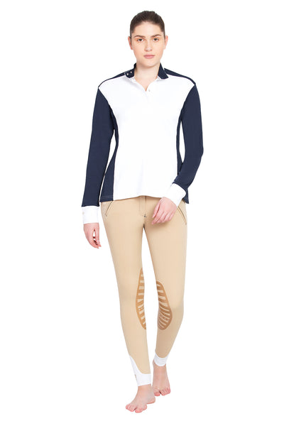 George H Morris Ladies Champion Long Sleeve Show Shirt_4453