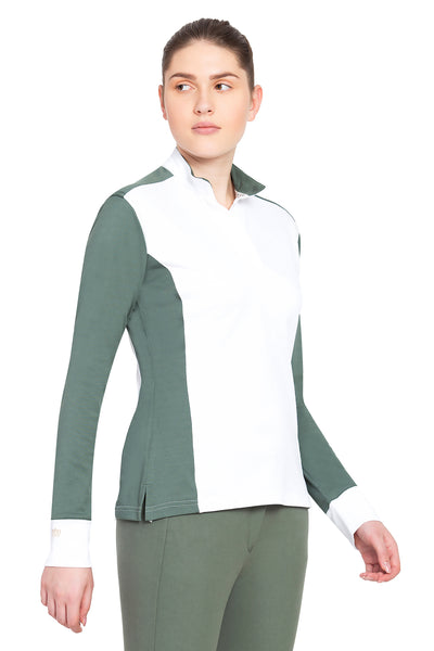 George H Morris Ladies Champion Long Sleeve Show Shirt_4463