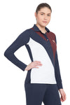 George H Morris Ladies Pro Sport Long Sleeve Polo Sport Shirt_4621