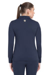 George H Morris Ladies Pro Sport Long Sleeve Polo Sport Shirt_4620