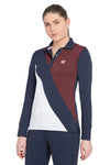 George H Morris Ladies Pro Sport Long Sleeve Polo Sport Shirt_4619
