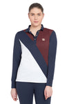 George H Morris Ladies Pro Sport Long Sleeve Polo Sport Shirt_4618