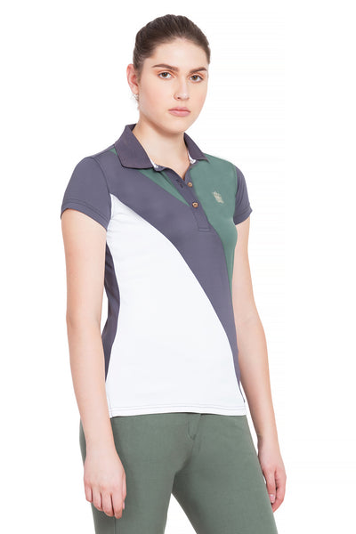 George H Morris Ladies Pro Sport Short Sleeve Polo Sport Shirt_4624