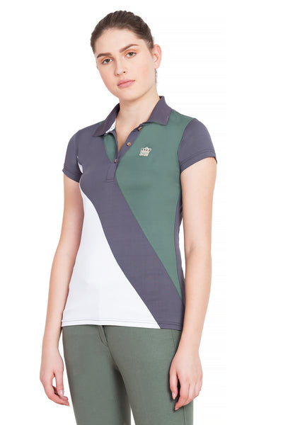 George H Morris Ladies Pro Sport Short Sleeve Polo Sport Shirt_4625