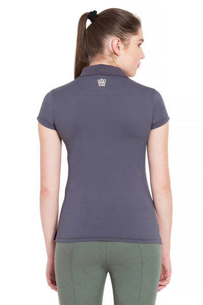 George H Morris Ladies Pro Sport Short Sleeve Polo Sport Shirt_4626