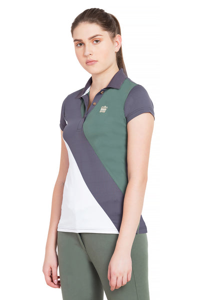 George H Morris Ladies Pro Sport Short Sleeve Polo Sport Shirt_4623