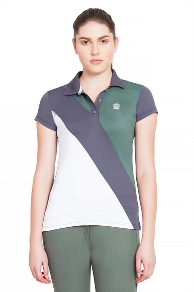 George H Morris Ladies Pro Sport Short Sleeve Polo Sport Shirt_4622