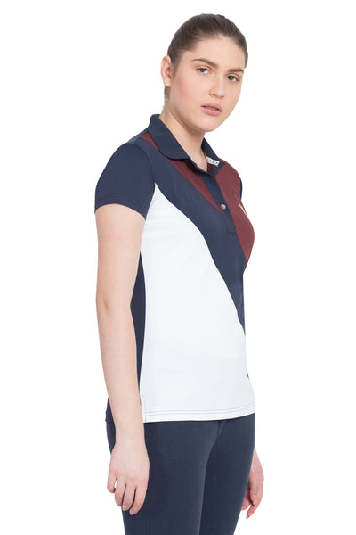 George H Morris Ladies Pro Sport Short Sleeve Polo Sport Shirt_4630