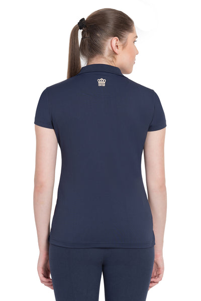 George H Morris Ladies Pro Sport Short Sleeve Polo Sport Shirt_4631