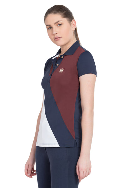 George H Morris Ladies Pro Sport Short Sleeve Polo Sport Shirt_4629